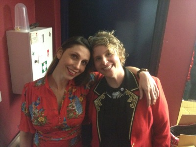 Me and Emma backstage at Canberra Street Theatre